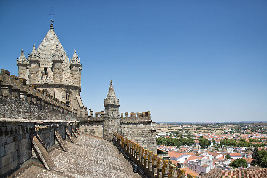 Horizontal Photograph - Evora View From Rooftop Of Cathedral Evora, by Stefan Cioata
