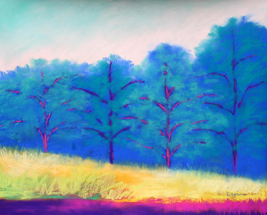 Landscape Painting - Exciting Landscape by Karin Eisermann