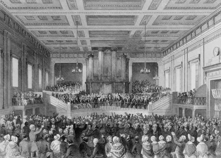 History Photograph - Exeter Hall Filled With A Large Crowd by Everett