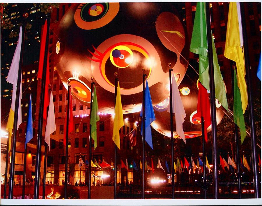 Flags Photograph - Exhibit At Rockefeller Center by Alton  Brothers