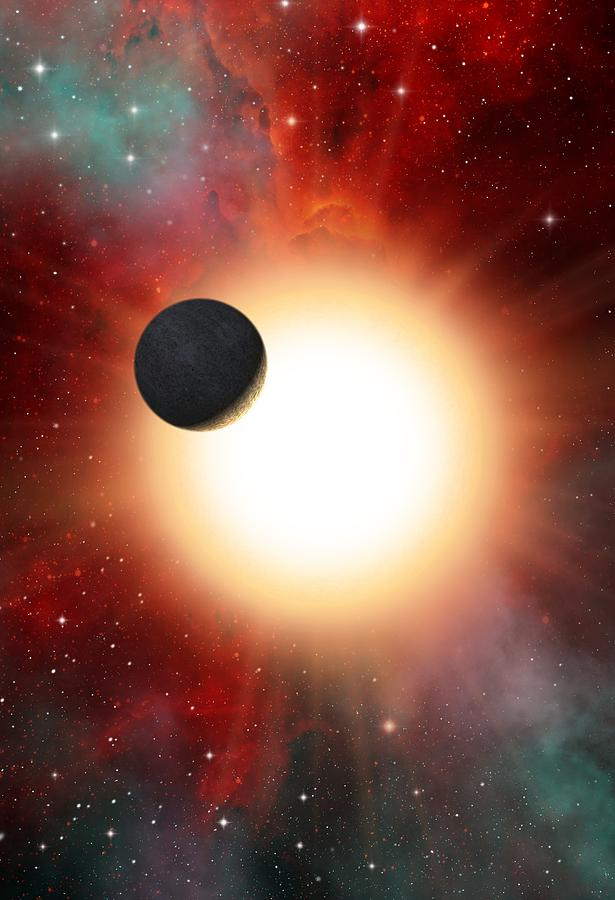 Planet Photograph - Exoplanet And Parent Star, Artwork by David Ducros
