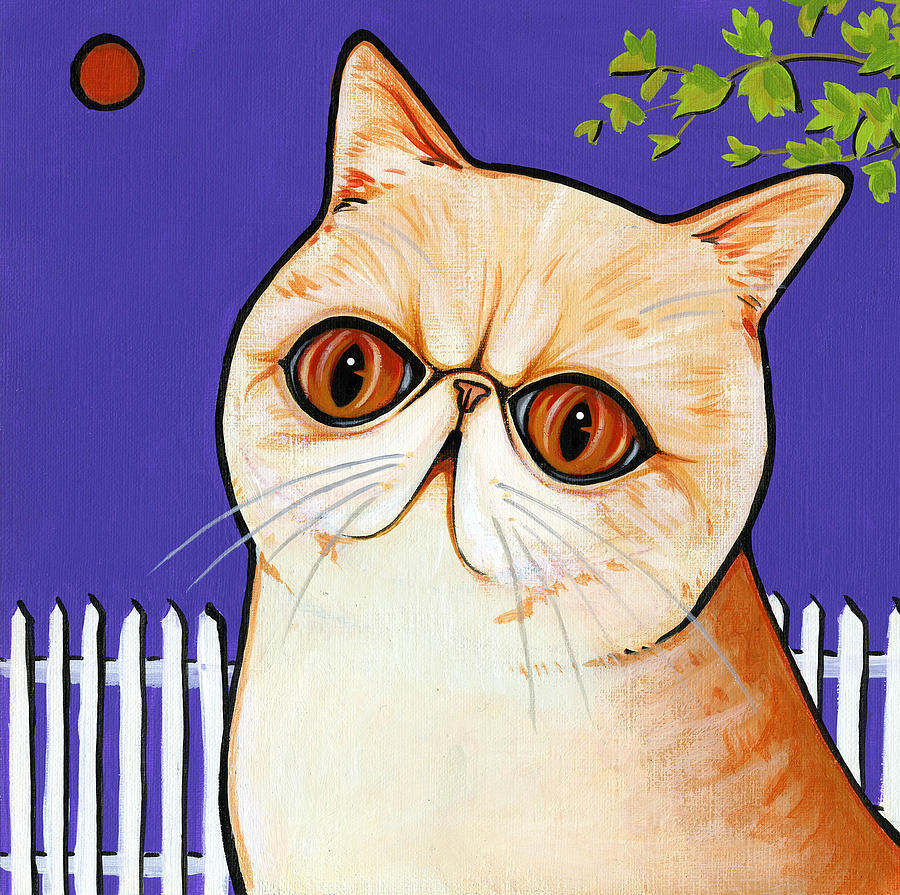 Cat Painting - Exotic by Leanne Wilkes