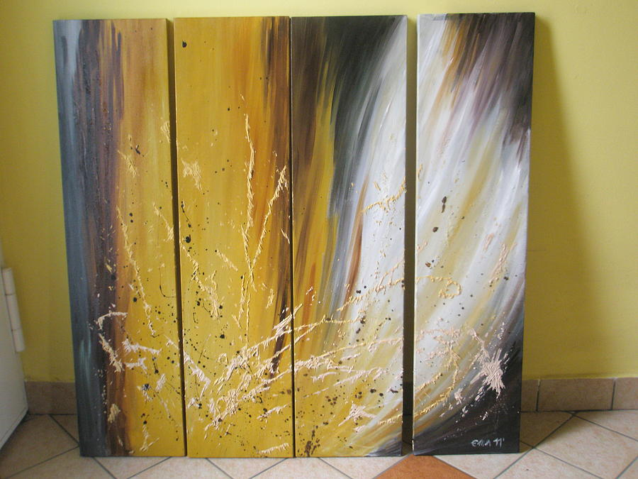 Explosion Painting by Ema Dolinar Lovsin