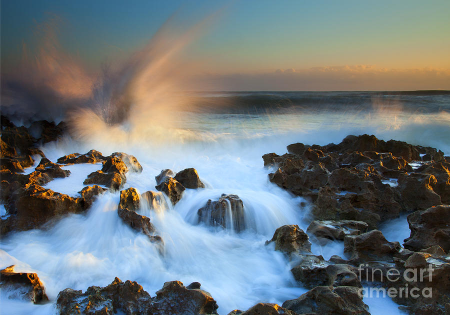 Explosion Photograph - Explosive Dawn by Mike  Dawson