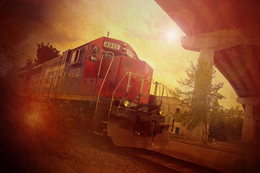 Train Photograph - Express Train by Joel Witmeyer