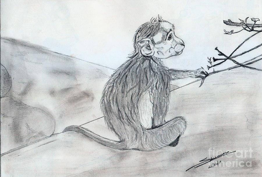 Landscape Drawing - Expression by Shashi Kumar