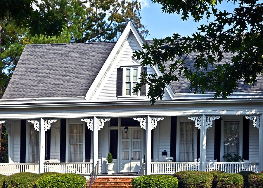 House Photograph - Exterior Of Victorian Style House by Susan Leggett