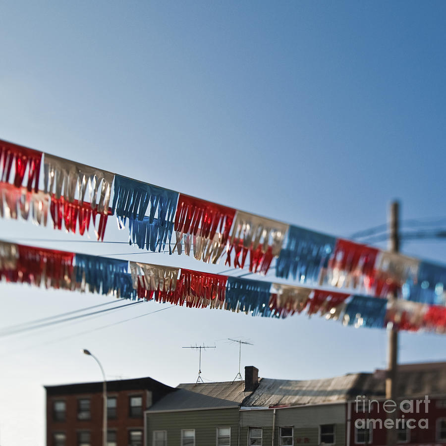 4th Of July Photograph - Exterior Red White And Blue Decorations by Eddy Joaquim