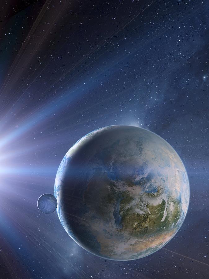Star Photograph - Extrasolar Earth-like Planet, Artwork by Detlev Van Ravenswaay