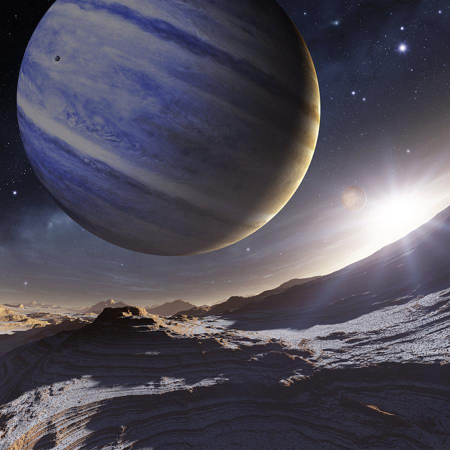 Extrasolar Gas Giant Planet, Artwork Photograph by Detlev ...
