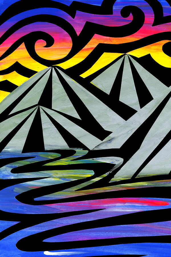 Kiwiana Painting - Extreme Alps by Roseanne Jones