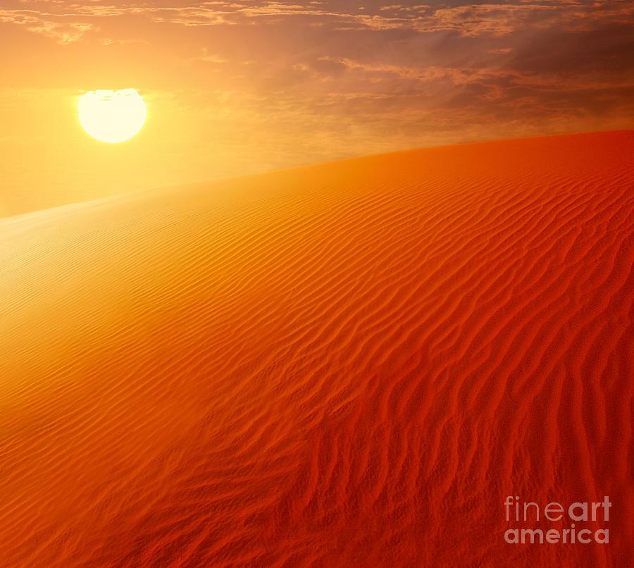 Arab Photograph - Extreme Desert Land by Anna Om
