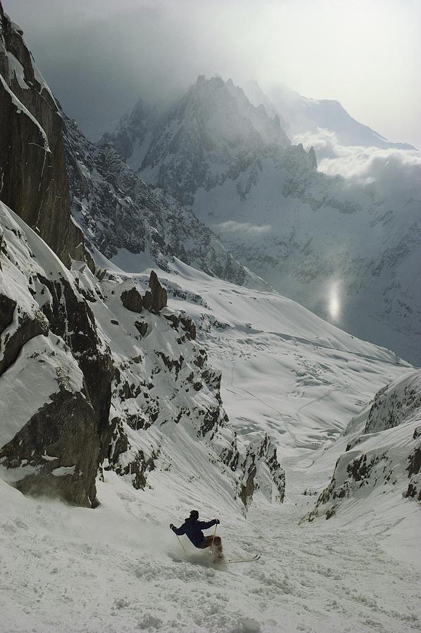 Europe Photograph - Extreme Skier Jean Franck Charlet by Gordon Wiltsie
