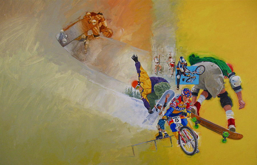Extreme Sports Painting By Cliff Spohn