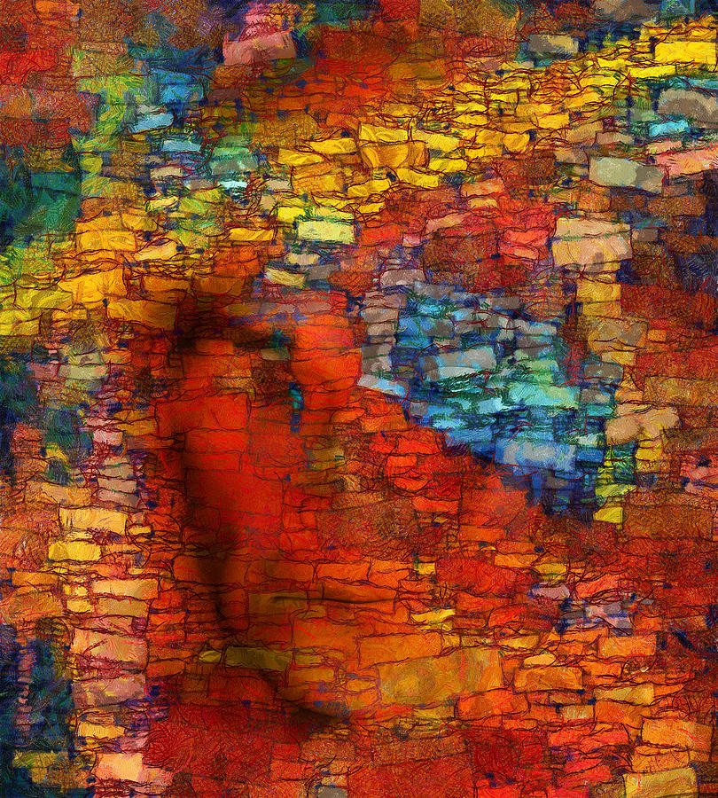Figurative Abstract Digital Art Digital Art - Extrusion by RochVanh
