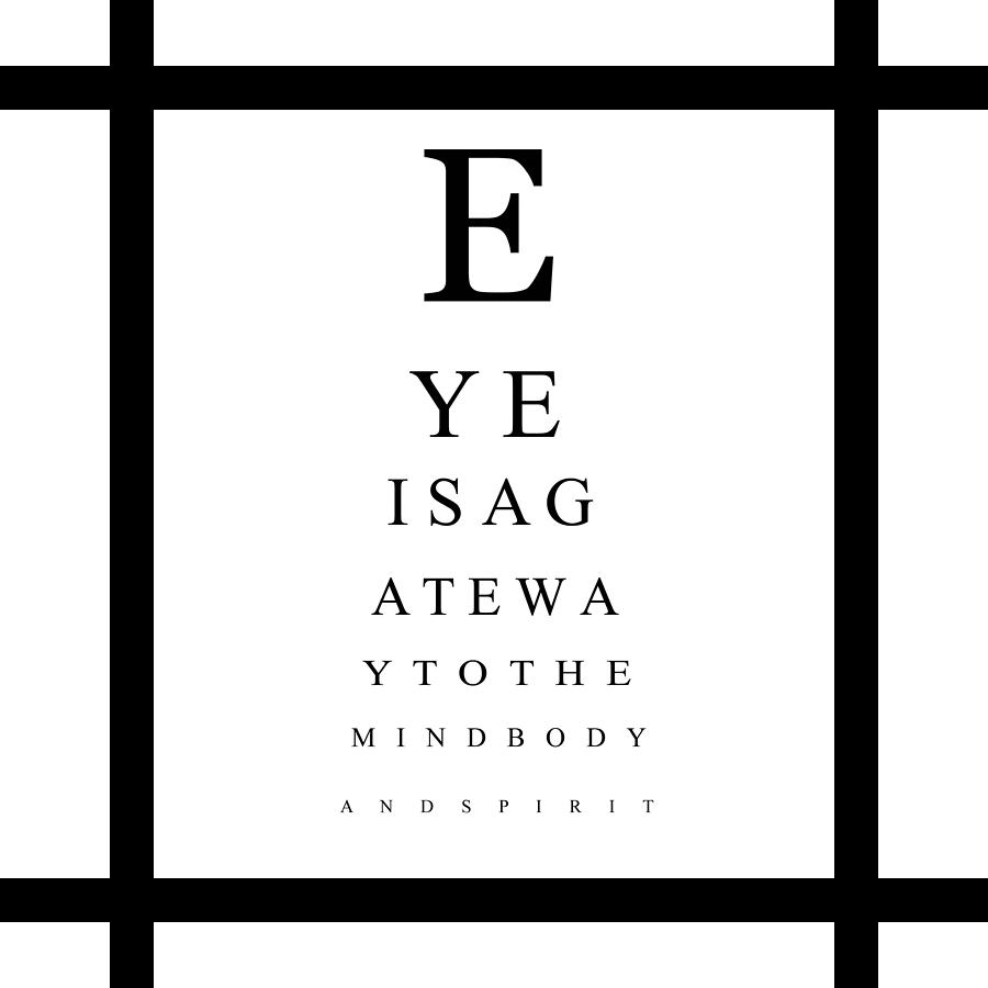 Eye Chart Digital Art By Jessica Rost