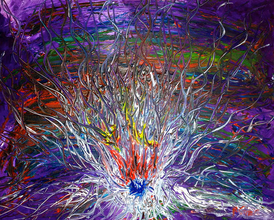 Eruption Painting - Eye Eruption by Pretchill Smith