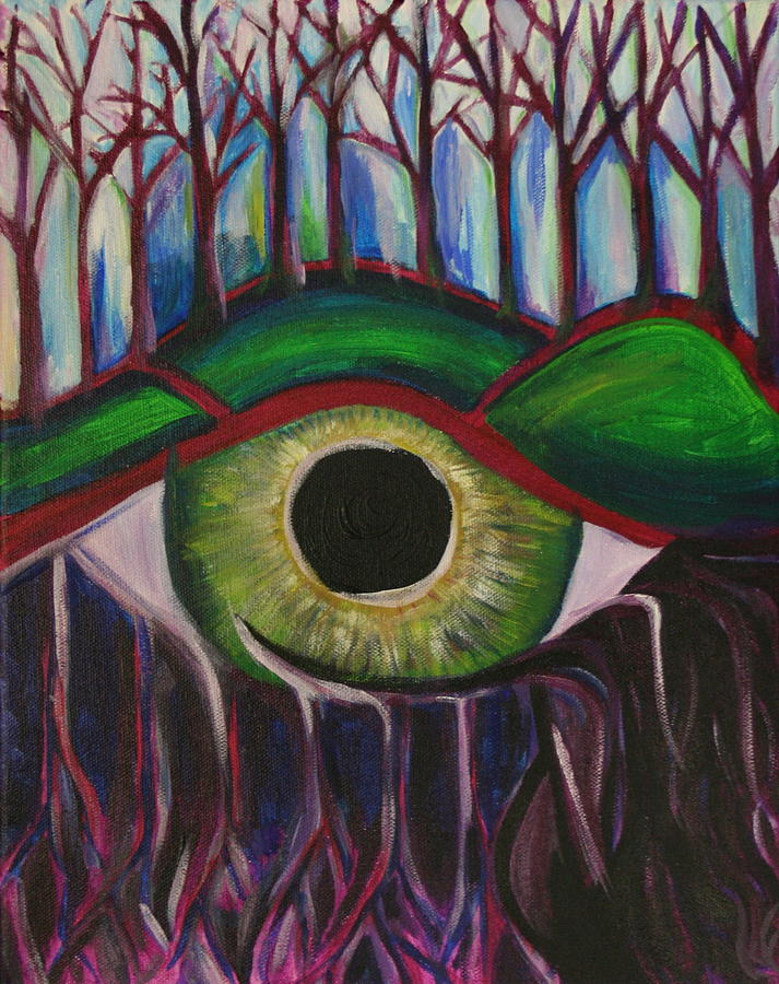 Eye Painting - Eye In The Sky by Kate Fortin