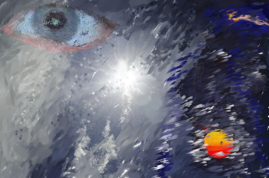 Abstract Digital Art - Eye In The Sky by Mark Stidham