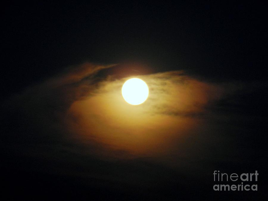 Sky Photograph - Eye Moon by Mariana Robu