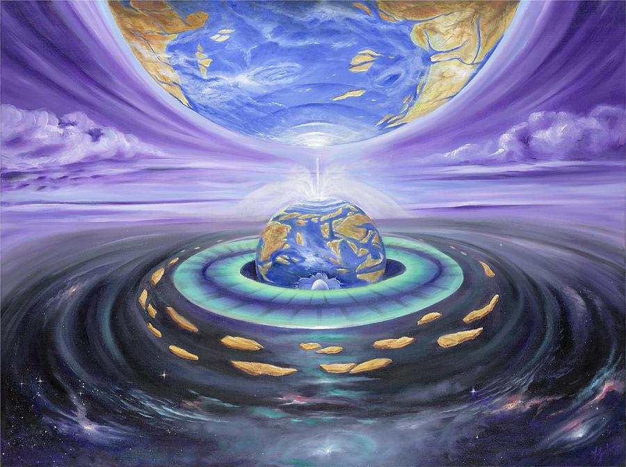 Earth Painting - Eye Of God by Teresa Gostanza