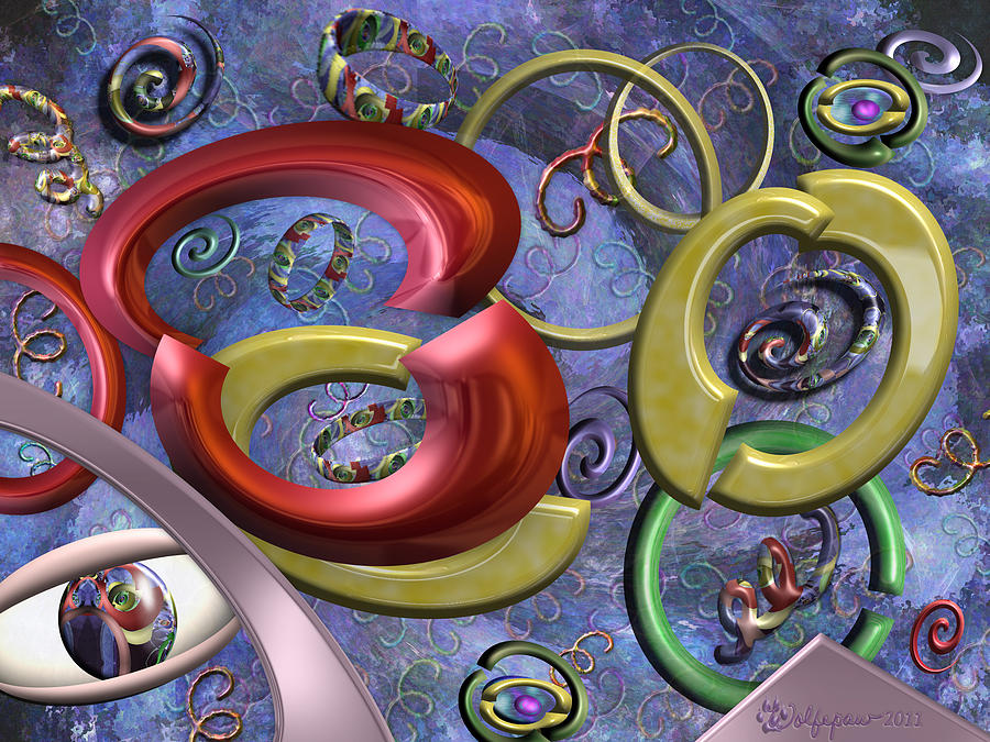 Abstract Digital Art - Eye Of The Beholder by Peggi Wolfe