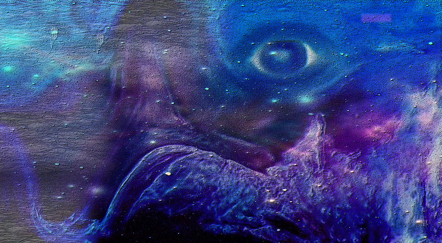 Eye Painting - Eye Of The Universe by Sherris - Of Palm Springs