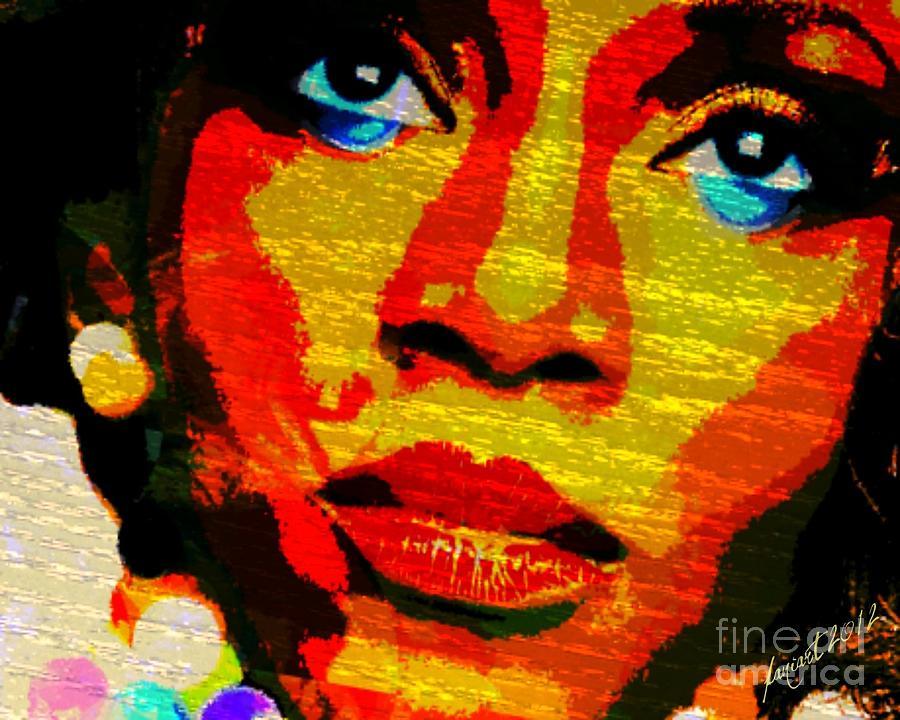 Fania Simon Mixed Media - Eyes Of Nigeria - Genevieve by Fania Simon