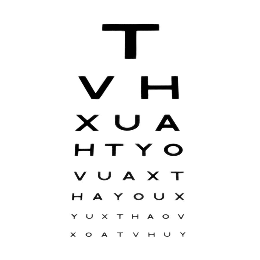 Eyesight test chart photograph by cut out photograph eyesight test chart by nvjuhfo Images