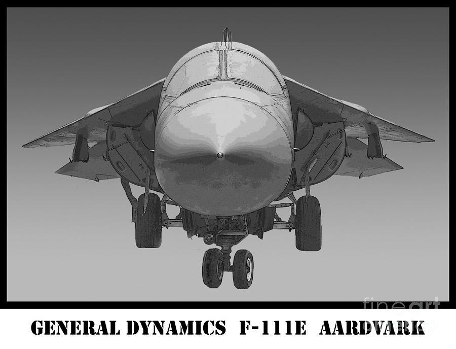 General Dynamics Photograph - F-111e Aardvark Drawing by Tim Mulina