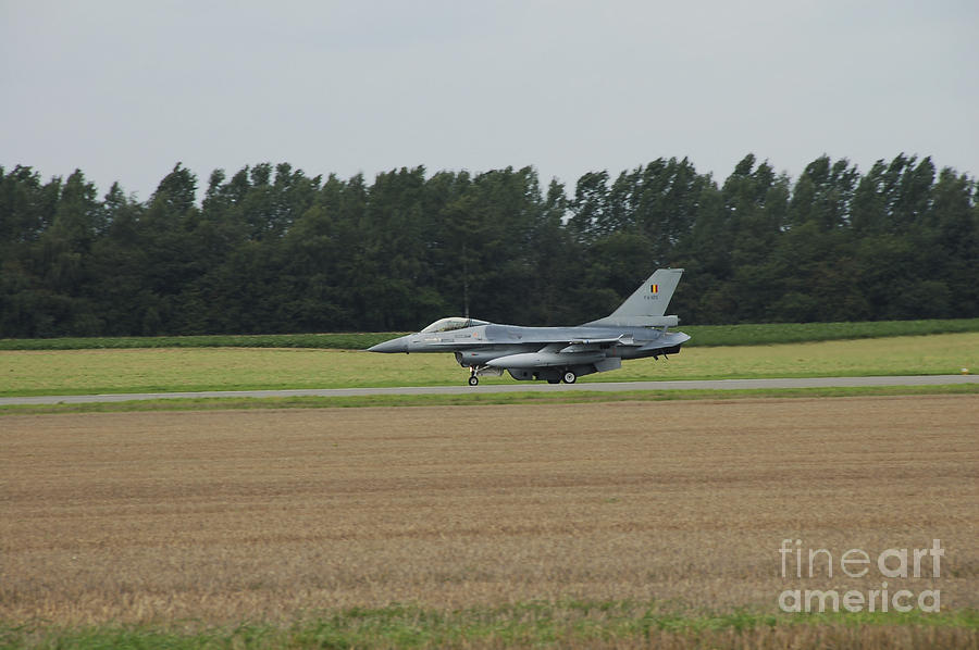Aircraft Photograph - F-16 Of The Belgian Air Force Ready by Luc De Jaeger
