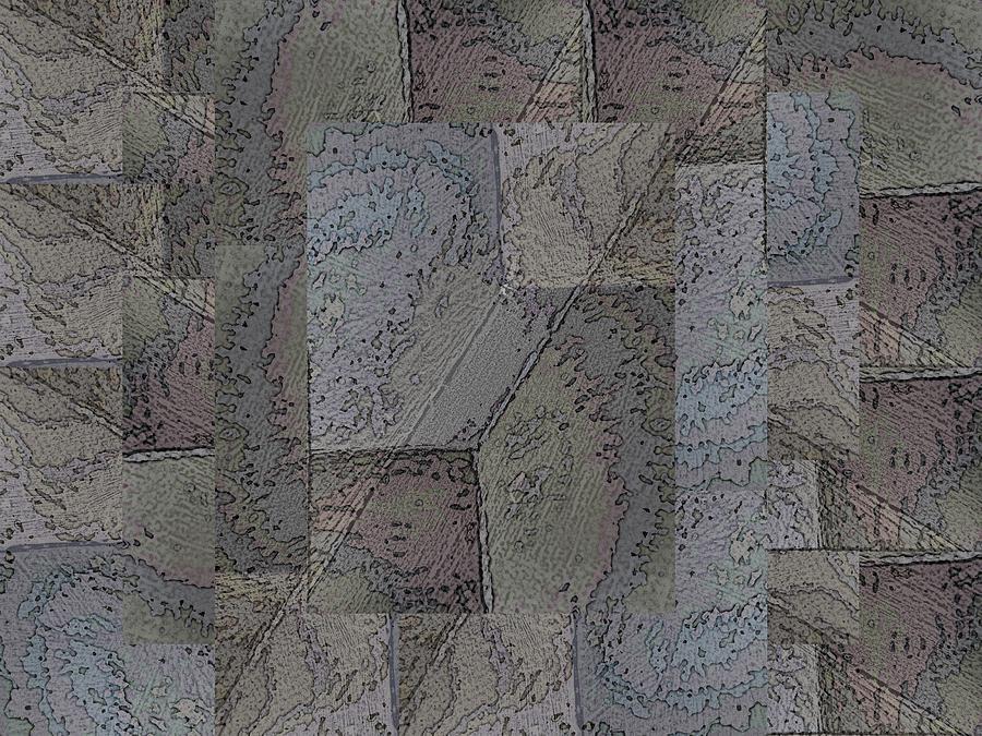 Abstract Digital Art - Facade 3 by Tim Allen