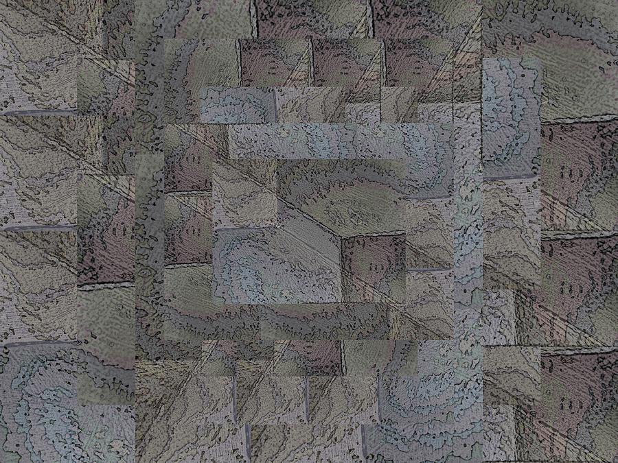 Abstract Digital Art - Facade 4 by Tim Allen
