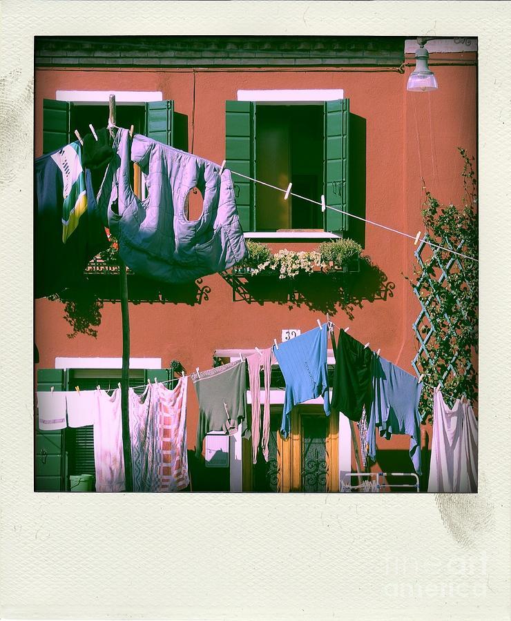 Facade Photograph - Facades Of Burano. Venice by Bernard Jaubert