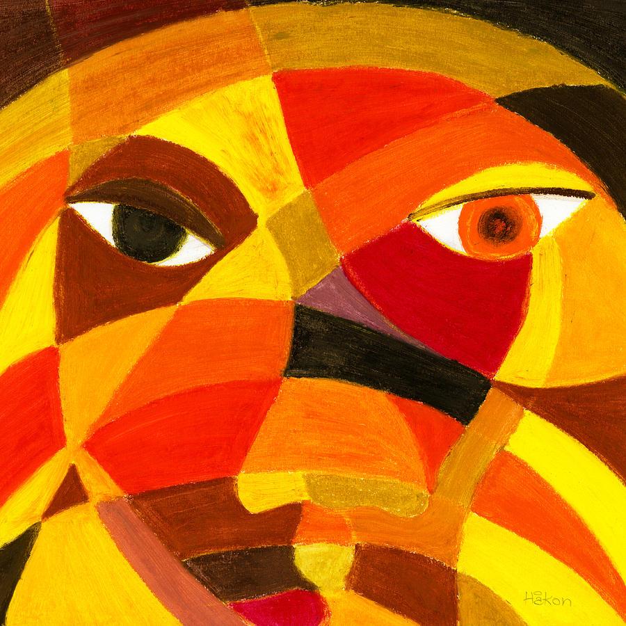 Face Drawing - Face 45 by Hakon Soreide