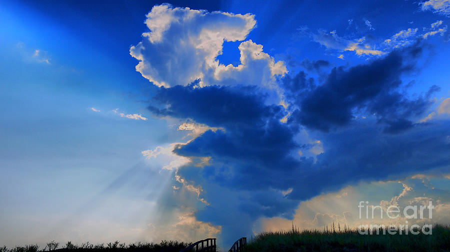 Clouds Photograph - Face In The Cloud by Nancie DeMellia