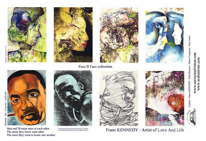 Martin Luther King Digital Art - Face Memory I  by Kennedy Franz