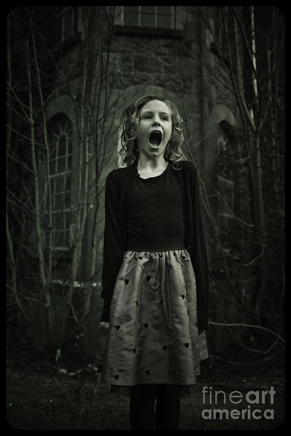 Scream Digital Art - Face by MrsRedhead Olga