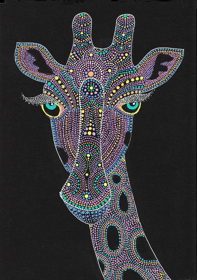 Face Of The Giraffe Painting By Nobuaki Suzuki