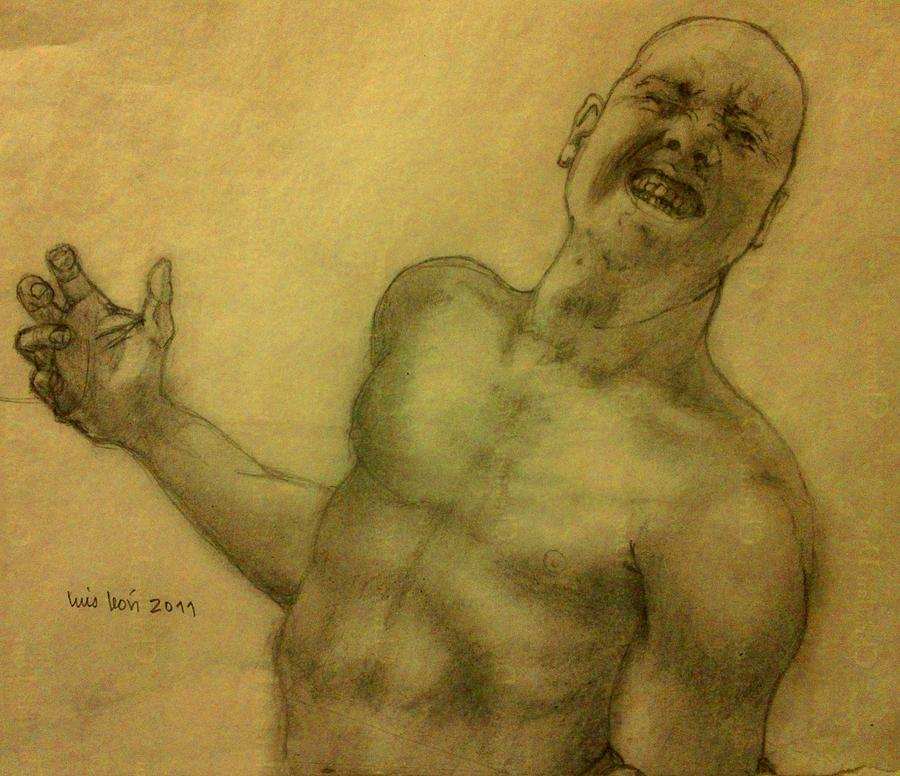 Torso Painting - Face One by Luis  Leon