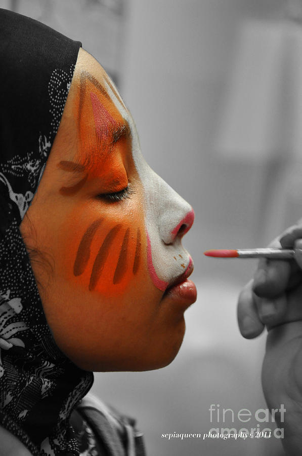 Face Painted Girl Photograph by Stephanie Morris