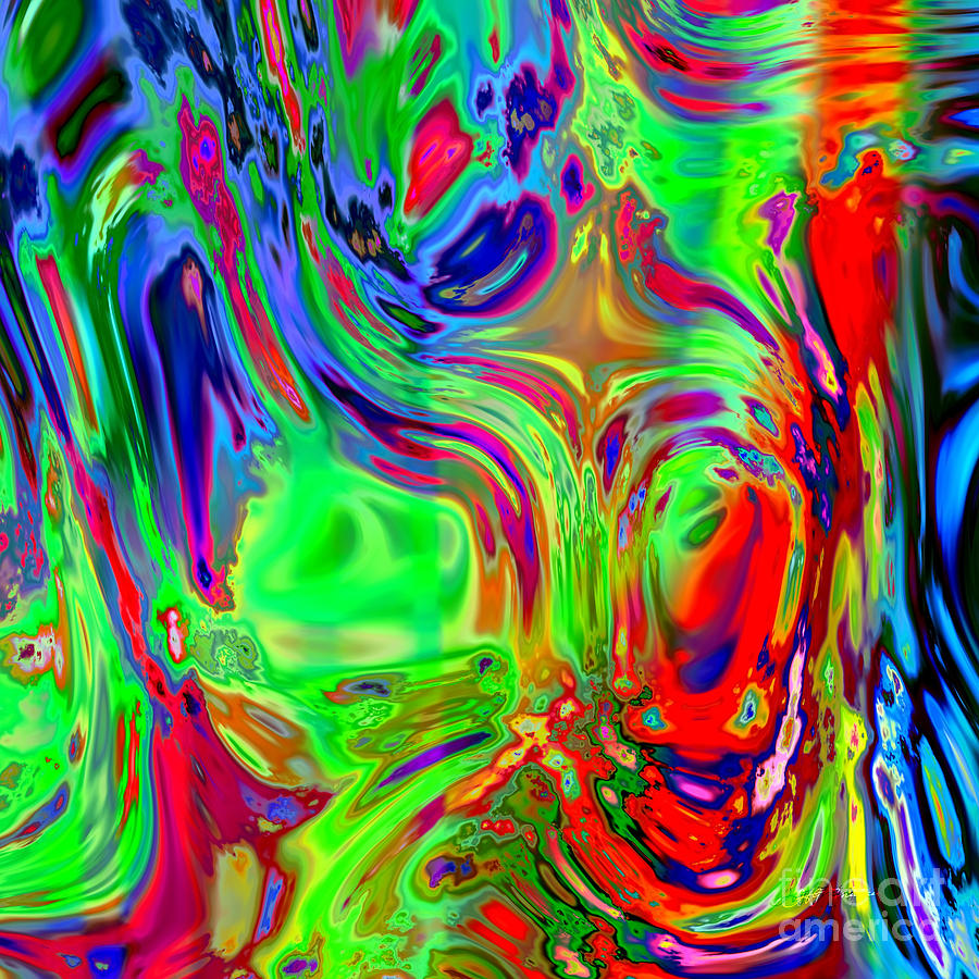 Faces Digital Painting Painting by Heinz G Mielke