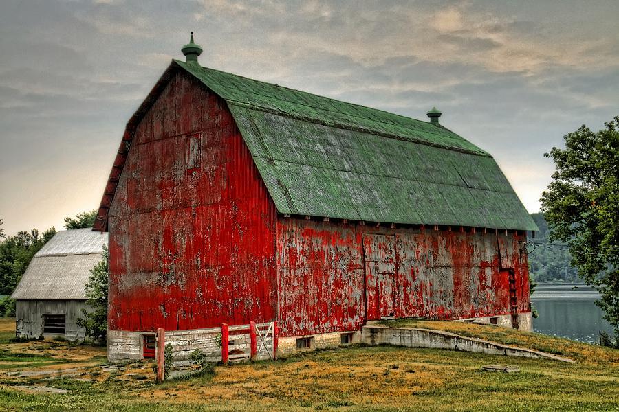 Barn Photograph - Fading by Tim Wilson