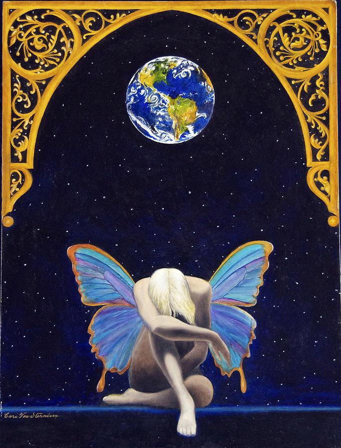 Fairies  Painting - Fairies Lament by Cari Von Sternberg