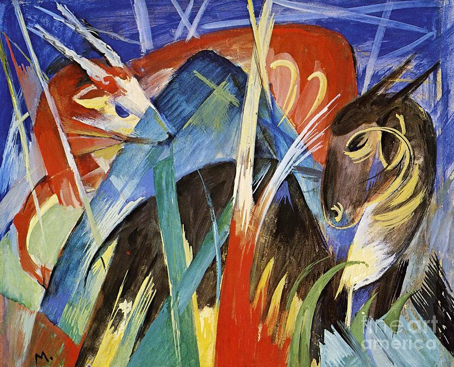 Fairy Animals Painting - Fairy Animals by Franz Marc