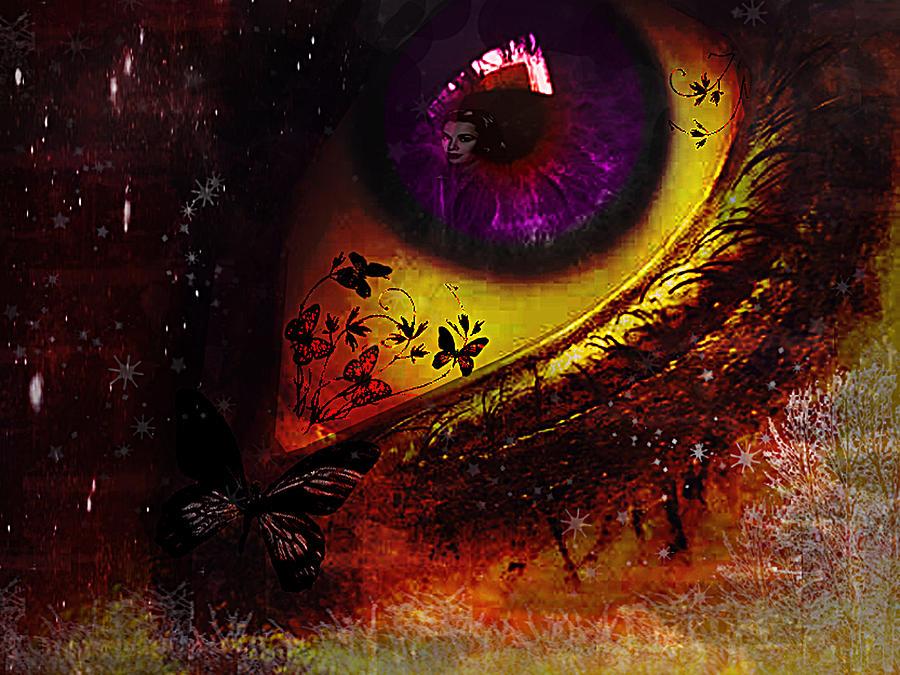 Eye Digital Art - Fairy Eye by Yvon van der Wijk