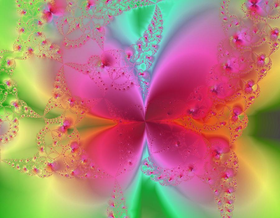 Fractal Digital Art - Fairy World by Ester  Rogers