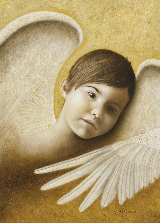 Angel Painting - Faith by Nanne Nyander