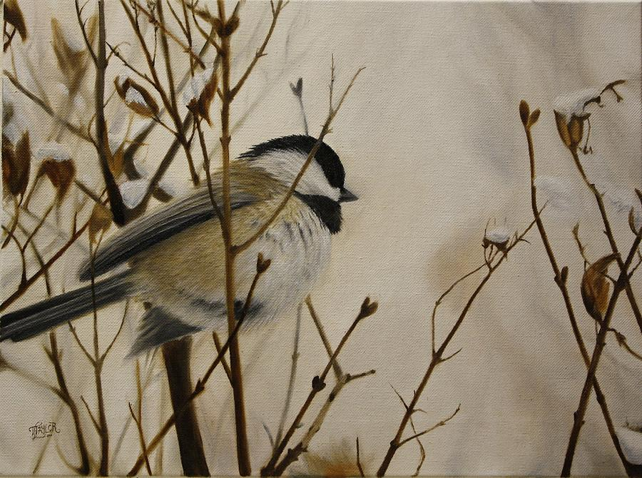 Faithful Winter Friend Painting by Tammy Taylor