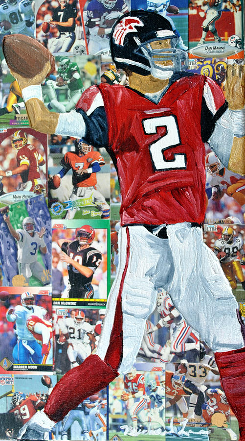 Quaterback Painting - Falcons Quaterback by Michael Lee